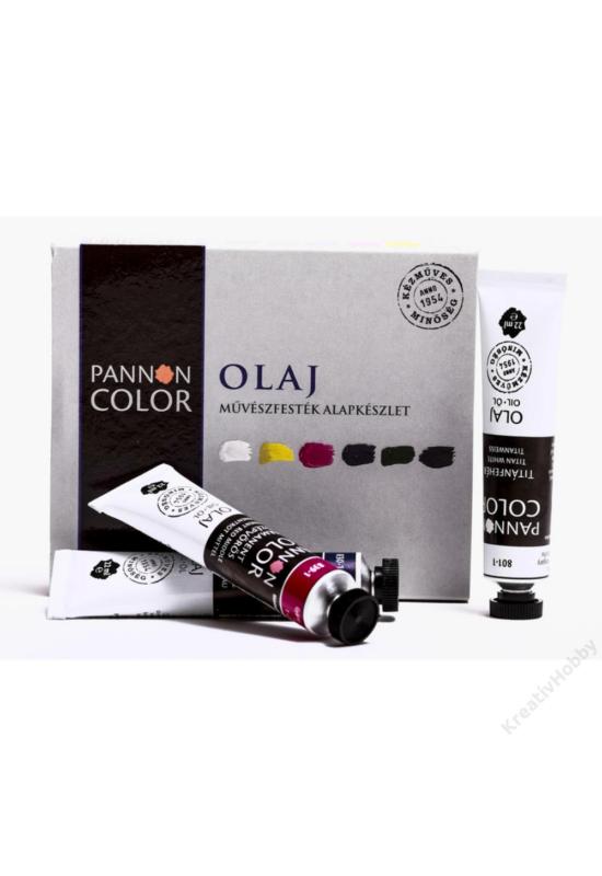 Pannoncolor 6 db-os művész olajfesték alapkészlet