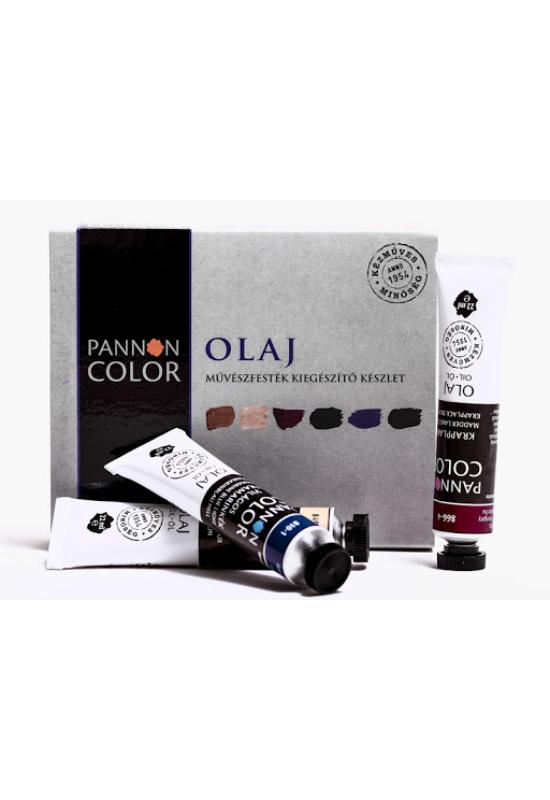 Pannoncolor 6 db-os művész olajfesték kiegészítő készlet