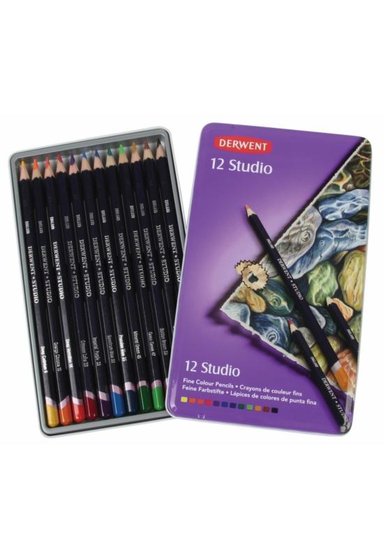Derwent Drawing 12 db-os színes ceruza készlet fémdobozban