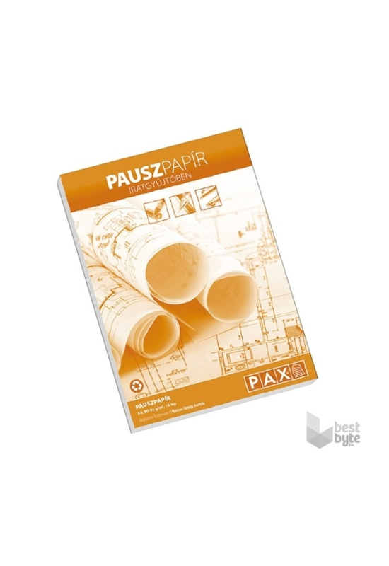 PAX Pausz papír iratgyűjtőben, 10 lap, A4