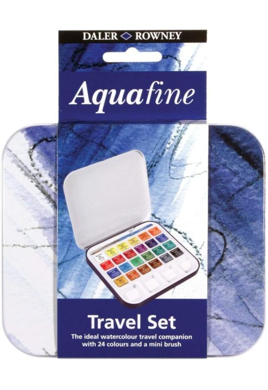 Daler Rowney Aquafine 24 db-os utazó akvarell készlet