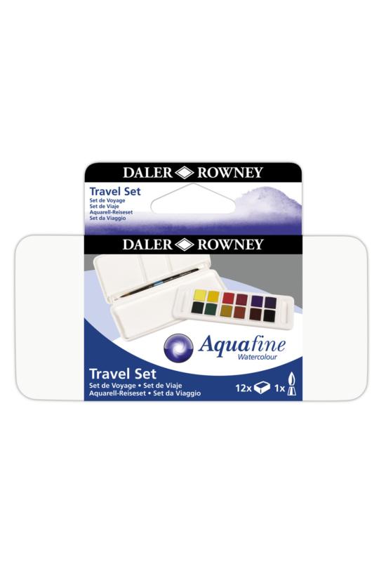 Daler rowney aquafine, akvarellszett 24 szín, utazó szett