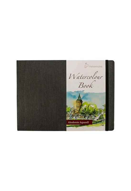 HAHNEMÜHLE WATERCOLOUR BOOK AKVARELL FÜZET, 200 G, 30 LAP - A4, FEKVŐ