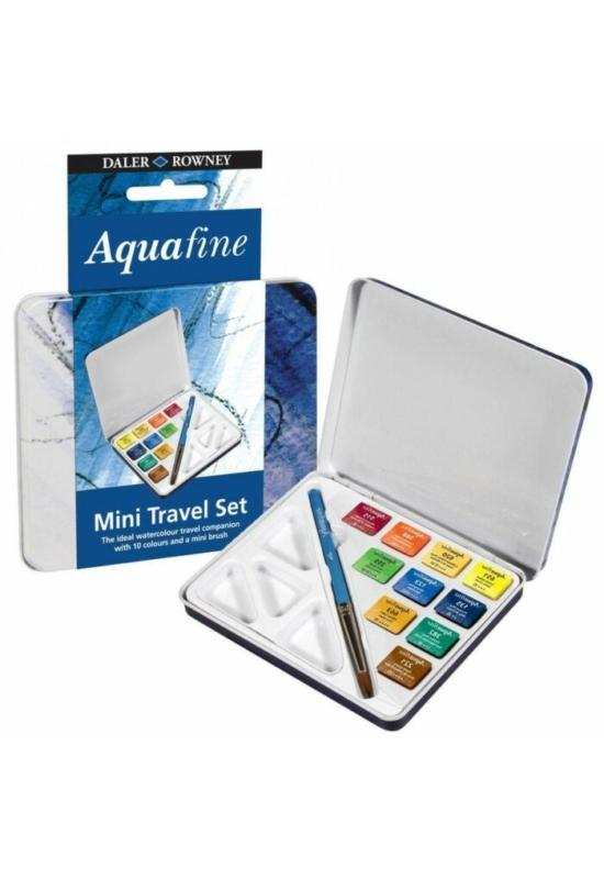 Daler Rowney Aquafine 10 db-os utazó akvarell készlet