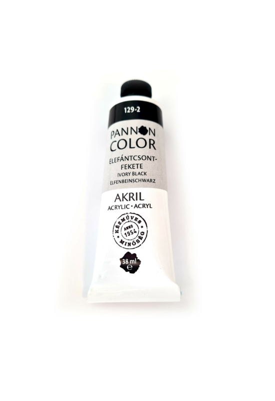 Pannoncolor - 38ml - Akrilfesték Elefántcsont Fekete