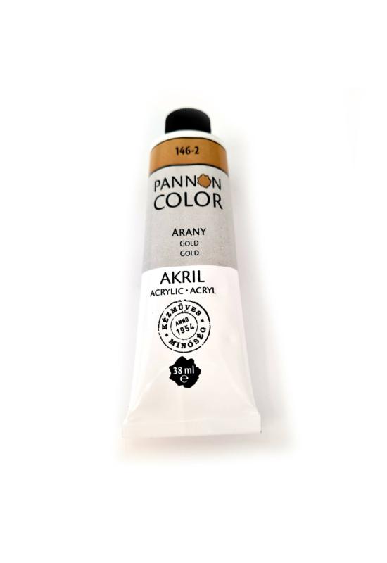 Pannoncolor - 38ml - Akrilfesték Arany