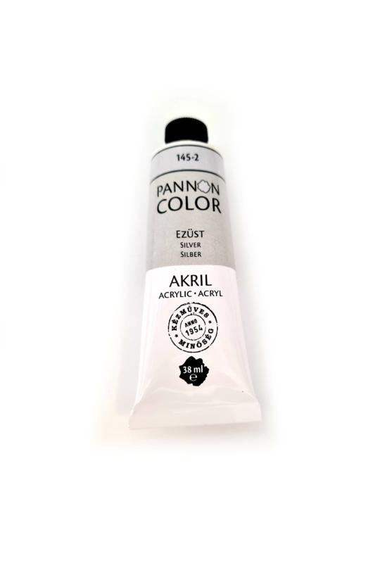 Pannoncolor - 38ml - Akrilfesték Ezüst