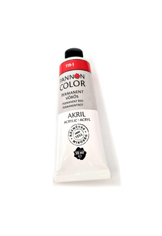 Pannoncolor - 38ml - Akrilfesték Permanent Vörös