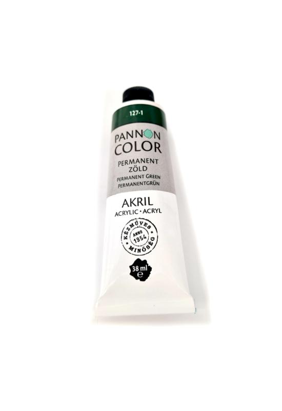 Pannoncolor - 38ml - Akrilfesték Permanent Sötétzöld