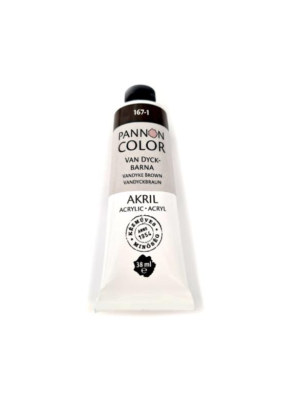 Pannoncolor - 38ml - Akrilfesték Van Dyck-Barna