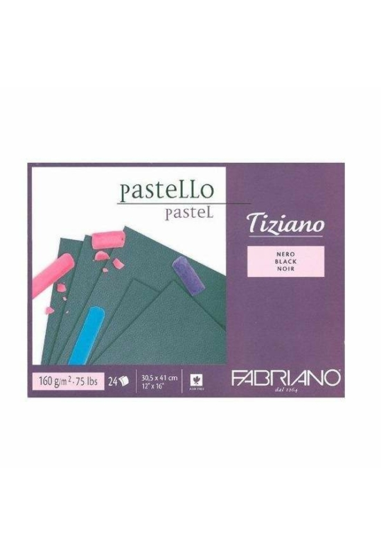 FABRIANO TIZIANO PASZTELL TÖMB, 24 lap, FEKETE, 160G, A3