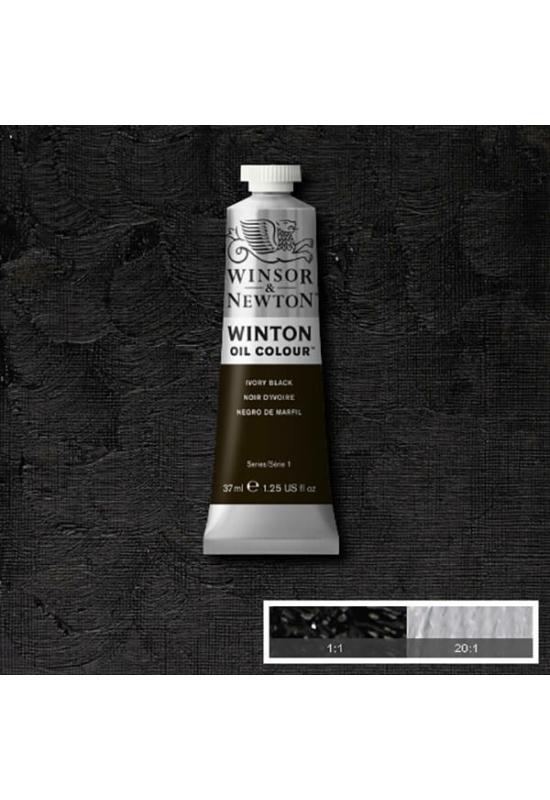 Winsor&Newton Elefántcsont Fekete, Olajfesték 37 ml, 331